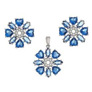 Imagem de Conjunto flor pedras natural azul - 1100828