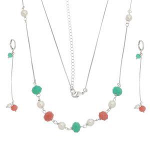 Imagem de Conjunto pérolas e pedras coloridas - 1100833