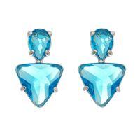 Imagem de Brinco triângulo pedras azul - 0521869*