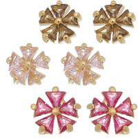 Imagem de Brinco flor pedras zircônia - 0521905 Cores
