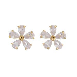 Imagem de Brinco flor com pedras zircônia - 0521854