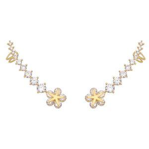 Imagem de Brinco ear cuff flor e pedras zircônia - 0521888