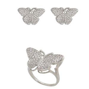 Imagem de Conjunto borboleta pedras zircônia - 1100834