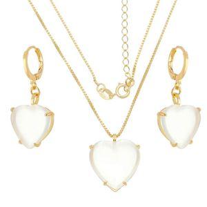 Imagem de Conjunto coração calcedônia branca - 1100844