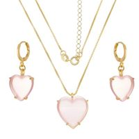 Imagem de Conjunto coração calcedônia rosa - 1100843