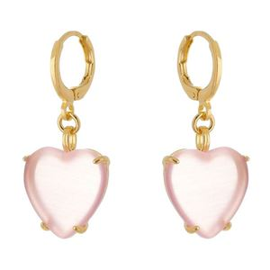 Imagem de Brinco argola click com coração rosa - 0521852
