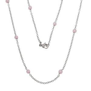 Imagem de Corrente com pérolas rosa - 0304488