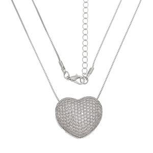 Imagem de Corrente coração com pedras zircônia - 0304543