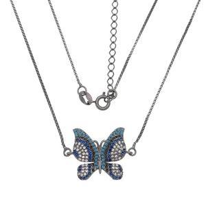 Imagem de Corrente borboleta pedras zircônia - 0303937