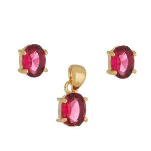 Imagem de Conjunto oval pedra natural pink - 1100861