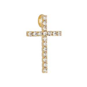 Imagem de Pingente cruz com pedras strass - 0206819