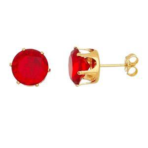 Imagem de Brinco solitário 10mm vermelho - 0521297