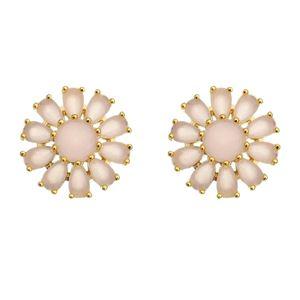 Imagem de Brinco flor com pedras natural rosa - 0522203
