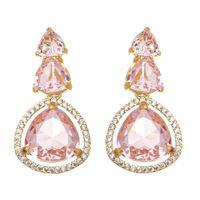 Imagem de Brinco com pedras natural rosa - 0520966