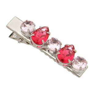 Imagem de Presilha para cabelo pedras rosa - 1400010