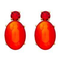 Imagem de Brinco oval pedra natural vermelho - 0521977