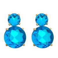 Imagem de Brinco redondo pedra natural azul - 0521978
