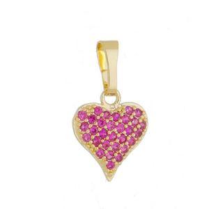 Imagem de Pingente coração pedras zircônia pink - 0206127