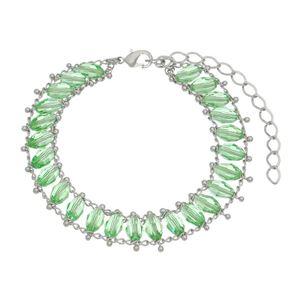 Imagem de Pulseira com pedras verde - 0405035