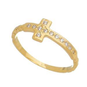 Imagem de Anel cruz com pedras zircônia - 0106514