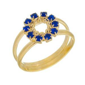 Imagem de Anel círculo com pedras strass - 0105222 Azul Bic