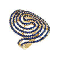 Imagem de Anel vazado com pedras zircônia - 0104868 Azul