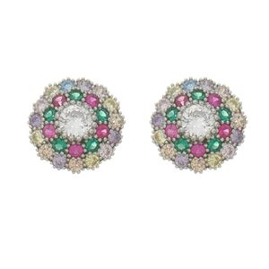 Imagem de Brinco flor zircônia colorido - 0522262*
