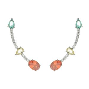 Imagem de Brinco ear cuff pedras zircônia - 0522344* Cores