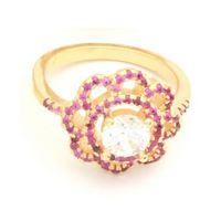 Imagem de Anel flor com micro zircônia - 0104876 Pink