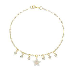 Imagem de Tornozeleira estrela com pérolas - 0405117