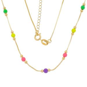 Imagem de Corrente com pedras coloridas neon - 0304620