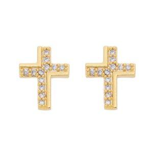Imagem de Brinco cruz com pedras zircônia - 0522250
