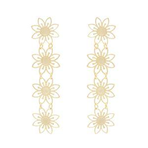 Imagem de Brinco flores em chapa vazada - 0522454