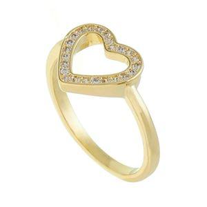 Imagem de Anel coração com pedras zircônia - 0106556