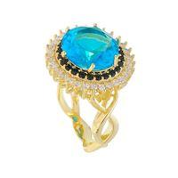 Imagem de Anel com pedra natural - 0106598 Azul