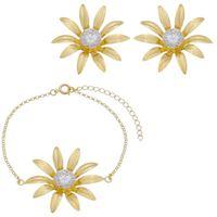 Imagem de Conjunto flor em chapa com zircônia - 1100925