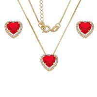 Imagem de Conjunto coração natural vermelho - 1100926