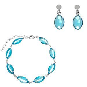 Imagem de Conjunto com pedras navete azul - 1100931