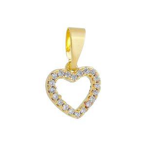 Imagem de Pingente coração com pedras zircônia - 0206947