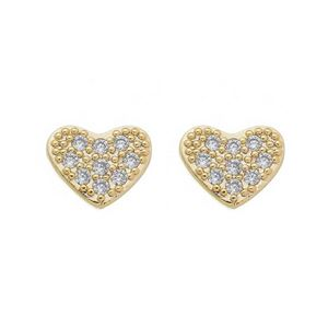 Imagem de Brinco coração com pedras zircônia - 0522490