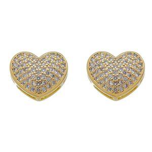 Imagem de Brinco coração com pedras zircônia - 0522487
