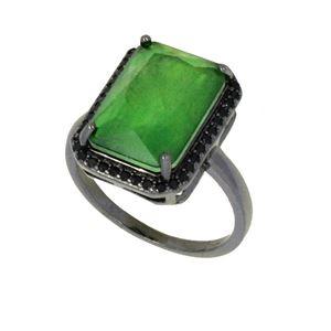 Imagem de Anel com pedra fusion - 0106746 Verde Esmeralda