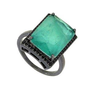 Imagem de Anel com pedra fusion - 0106746 Verde Tiffany