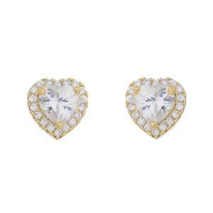 Imagem de Brinco coração pedras zircônia - 0522739