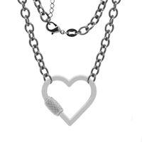 Imagem de Corrente cadeado com fecho coração - 0304901