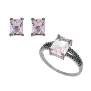 Imagem de Conjunto pedra natural rosa - 1100935