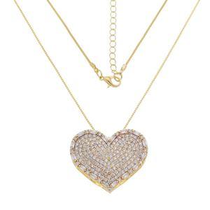 Imagem de Corrente coração com pedras zircônia - 0304824 Cores
