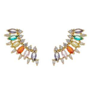 Imagem de Brinco ear cuff com pedras - 0522559 Cores