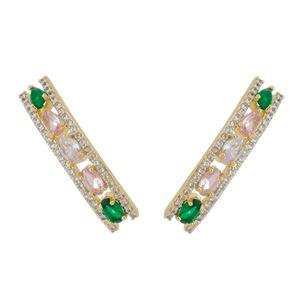 Imagem de Brinco ear cuff com pedras - 0522832 Cores