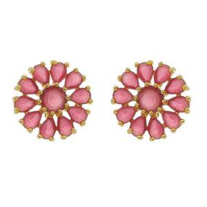 Imagem de Brinco flor com pedras natural pink - 0522657